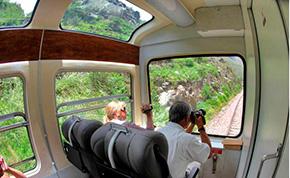 Tren Vistadome a Machupicchu